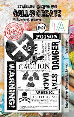 AALL & Create A7 Stamp Set #432 - Toxic Warning