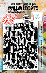 AALL & Create A7 Stamp Set #433 - Inky Numbers
