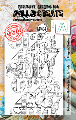 AALL & Create A7 Stamp Set #434 - Newsprint Numbers