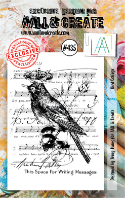 AALL & Create A7 Stamp Set #435 - Bird Collage