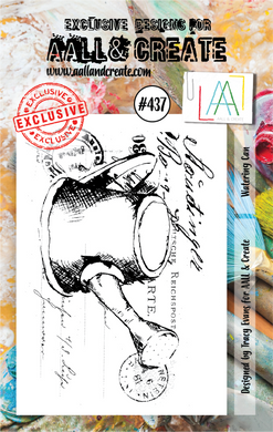 AALL & Create A7 Stamp Set #437 - Watering Can