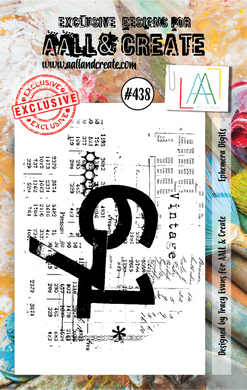 AALL & Create A7 Stamp Set #438 - Ephemera Digits