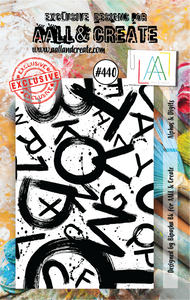 AALL & Create A7 Stamp Set #440 - Alphas & Digits