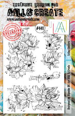 AALL & Create A5 Stamp Set #441 - Lotus Clusters