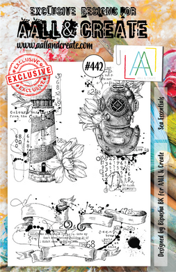 AALL & Create A5 Stamp Set #442 - Sea Essentials