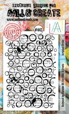 AALL & Create A6 Stamp Set #443 - Scripted Circles
