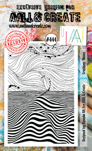 AALL & Create A6 Stamp Set #444 - Crashing Waves
