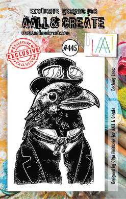 AALL & Create A7 Stamp Set #445 - Dashing Crow