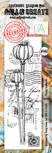 AALL & Create Border Stamp #447 - Poppy Seedheads