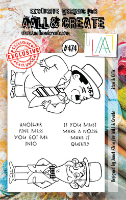 AALL & Create A7 Stamp Set #474 - Stan & Ollie