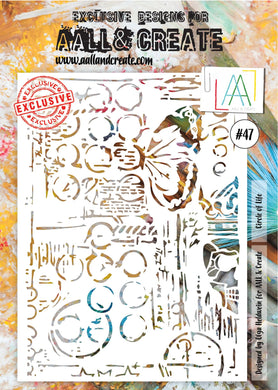 AALL & Create A4 Stencil #47 - Circle of Life