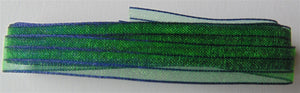 "Sheer Iridescent Ribbon 3/8"" - Cobalt Jade 3m"