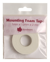 Woodware Mounting Foam Tape - 1mm x 12mm x 2m