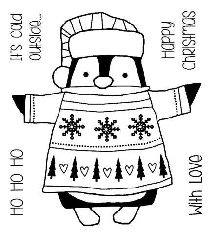 Woodware Clear Magic Single - Wrapped Penguin