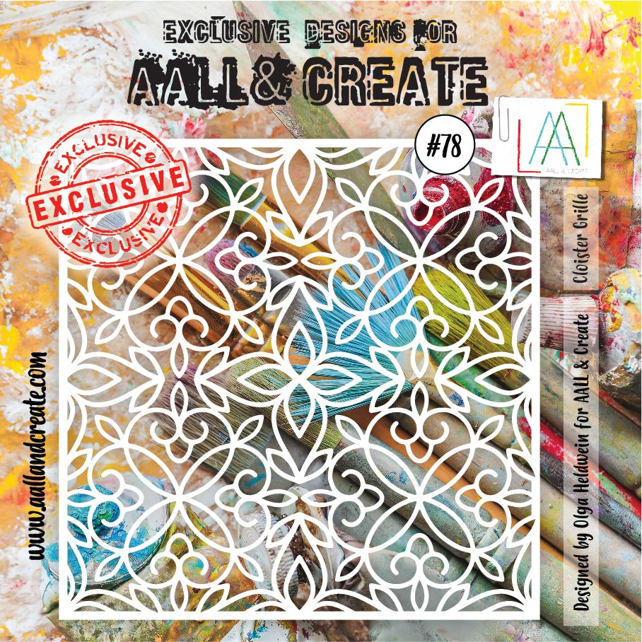 AALL & Create 6 x 6 Stencil #78 - Cloister Grille