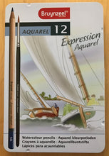 Sakura Bruynzeel Expression Tin - 12 Watercolour Pencils