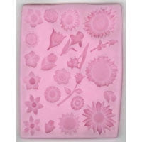 Dhondt Large Silicone Mould - Multi-Flowers