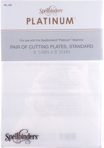 Spellbinders Platinum Pair of Cutting Plates, Standard