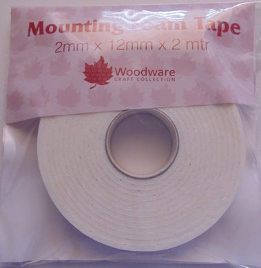 Woodware Mounting Foam Tape - 2mm x 12mm x 2m