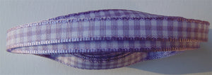 Lavender & White Gingham Ribbon - 4m