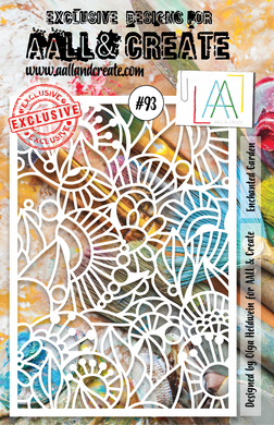 AALL & Create A5 Stencil #93 - Enchanted Garden