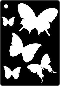 Creative Expressions Mini Stencils - Butterfly Splash