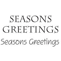 Woodware Clear Magic Singles - Seasons Greetings