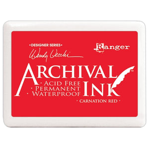 Jumbo Archival Ink Pad - Wendy Vecchi Carnation Red