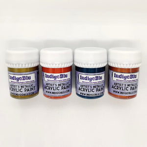 IndigoBlu Artist's Metallic Acrylic Paint 20ml - Set 3