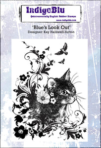 IndigoBlu Blue's Look Out A6 Red Rubber Stamp Set