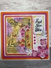Phill Martin Sentimentally Yours A6 Clear Medley Stamp - Bluebells Medley