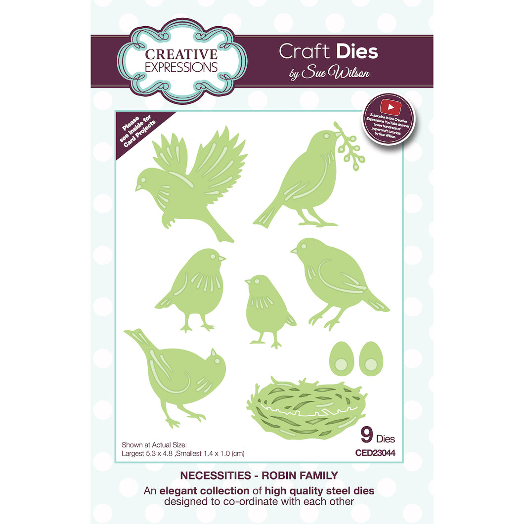 Dies by Sue Wilson Necessities Collection - Robin Family