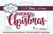 Festive Mini Expressions - Stacked Merry Christmas