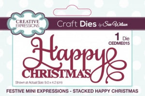 Festive Mini Expressions - Stacked Happy Christmas