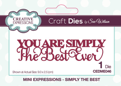 Dies by Sue Wilson Mini Expressions - Simply the Best