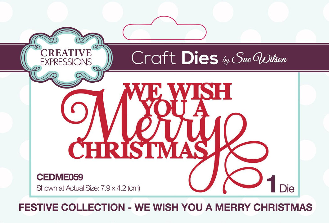 Dies by Sue Wilson Festive Collection - We Wish You A Merry Christmas