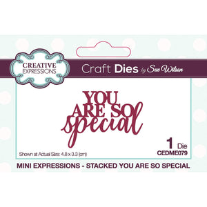 Dies by Sue Wilson - Mini Expressions Stacked You Are So Special