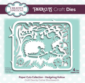 Creative Expressions Paper Cuts Layering Collection - Hedgehog Hollow
