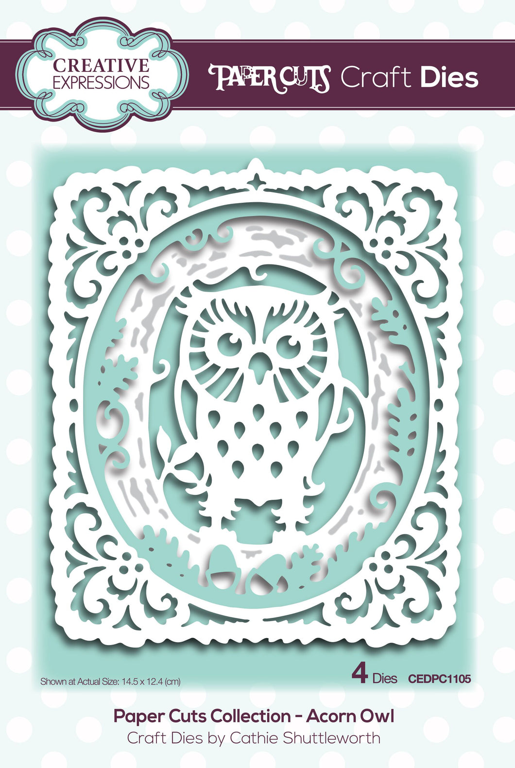 Creative Expressions Paper Cuts Layering Collection - Acorn Owl