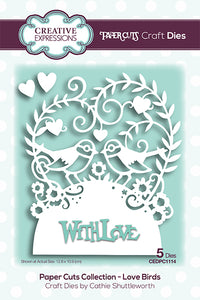 Creative Expressions Paper Cuts Collection - Love Birds