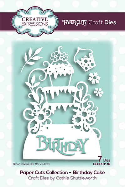 Creative Expressions Paper Cuts Collection - Birthday Cake