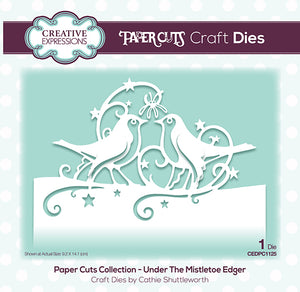Creative Expressions Paper Cuts Collection - Under the Mistletoe Edger
