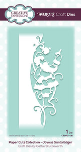 Creative Expressions Paper Cuts Collection - Joyous Santa Edger