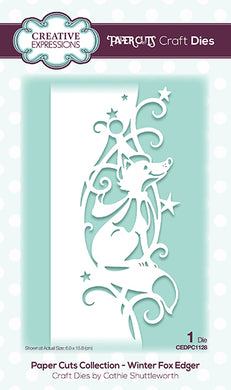Creative Expressions Paper Cuts Collection - Winter Fox Edger
