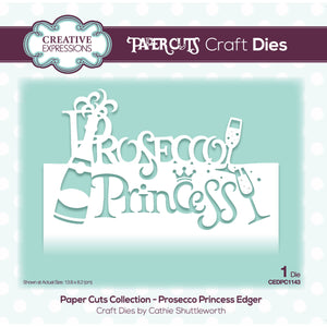 Creative Expressions Paper Cuts Collection - Prosecco Princess