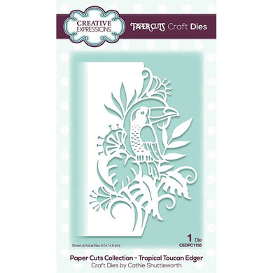 Creative Expressions Paper Cuts Collection - Tropical Toucan Edger