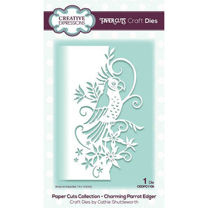 Creative Expressions Paper Cuts Collection - Charming Parrot Edger