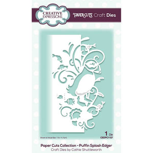 Creative Expressions Paper Cuts Collection - Puffin Splash Edger
