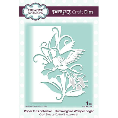 Creative Expressions Paper Cuts Collection - Hummingbird Whisper Edger