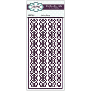 Creative Expressions Sue Wilson Slimline Stencil - Lattice Swirls